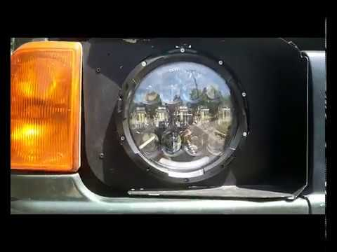 Discovery Land Rover >> Head Light Conversion Discovery 1 & 2 to LED Round 7 ...