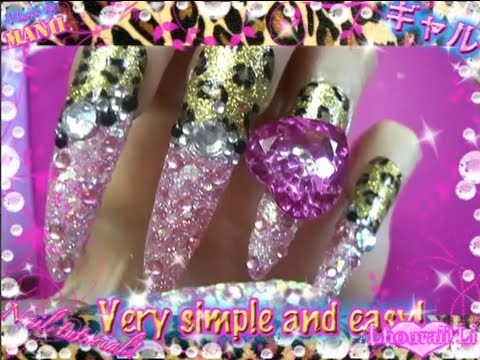 Pink and leopard nail tutorial