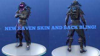 FORTNITE NEW RAVEN SKIN AND BACK BLING!!