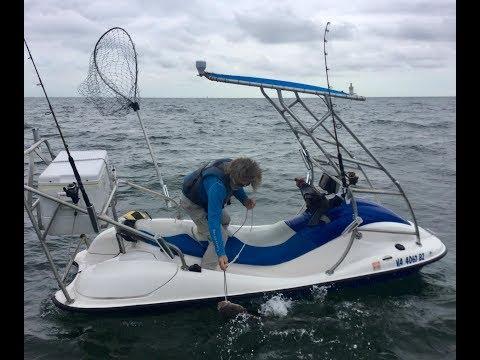 VIRGINIA COBIA FISHING And Very Cool FISHING JET SKI