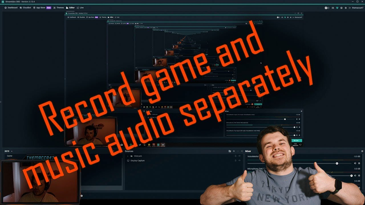 Record your game and music audio separately in Streamlabs & OBS!