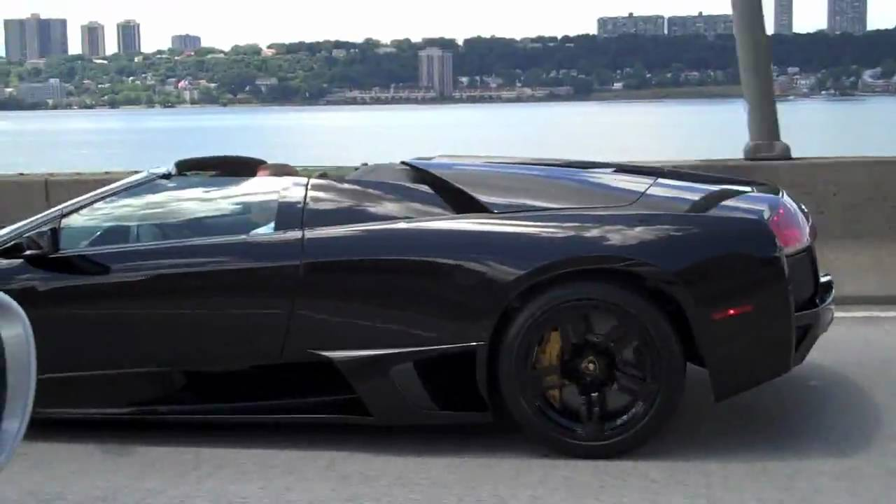Black Lamborghini Murcielago Roadster Lp640 Hd Youtube