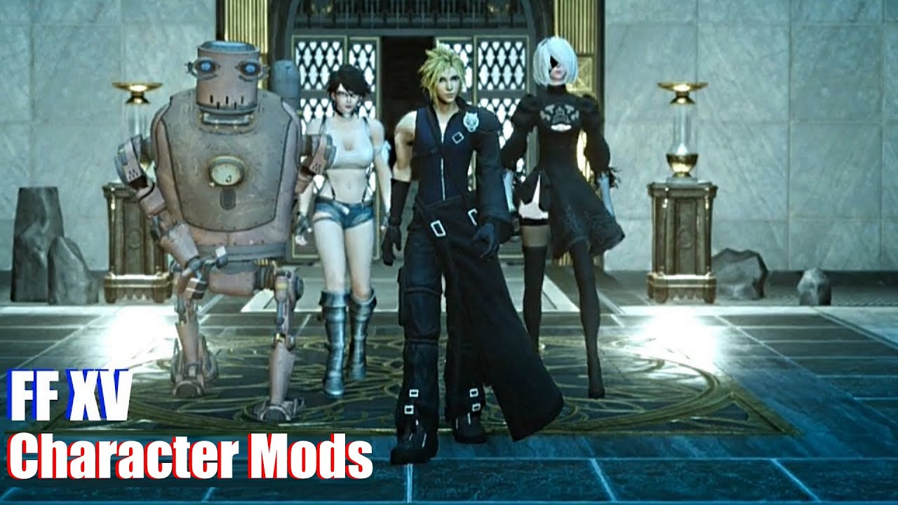 Final Fantasy XV - Character & Outfit Mods (June 2018 Cloud Squall Steam)