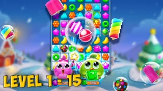 Bird Friends: Match 3 & Free Puzzle level 1 - 15 [ Neon Game ] HD 👋😘✌️ screenshot 3