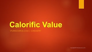 Calorific Value