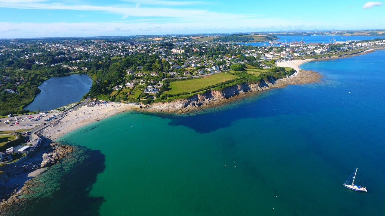 Free 3d Widescreen Wallpapers For Pc Swanpool Beach In Falmouth Cornwall Phantom 4 In 4k