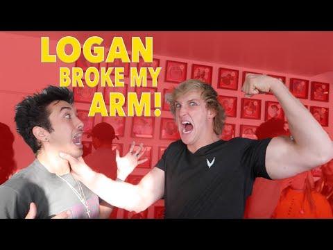 Logan Paul broke my arm!!! *GONE SO WRONG*