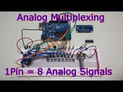 Ep.54 Analog Input Multiplexing with the 74HC4051 - 8 Sensors on 1 Pin
