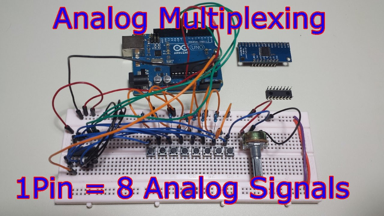 Ep54 Analog Input Multiplexing With The 74hc4051 8 Sensors On 1 Integrated Circuits Ics Ic Us 0 20 Piece Min Order 5 Pieces Part Pin Youtube