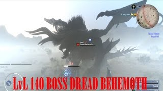 Final Fantasy XV: lvl 140 Boss Dread Behemoth Showcase (3rd Limited Timed Quest Boss Fight)