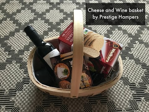Prestige Hampers Cheese and Wine Basket