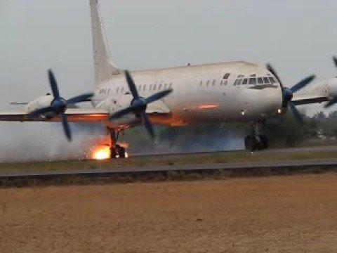 Ilyushin IL-18 Aborted take off