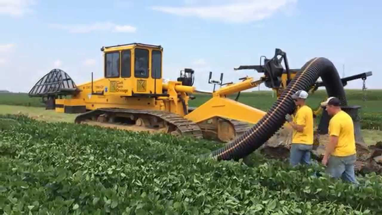 Inter Drain 2040 Sp Tile Plow 12 Inch Install
