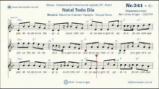NATAL TODO DIA - ( Notas musicais, letra, acordes, karaoke )
