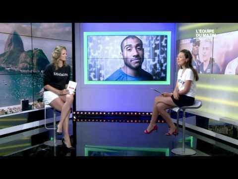 France Pierron & Gaelle Million hot legs - L'Equipe Du Matin - 08/14/16