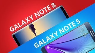Samsung Galaxy Note 8 vs Galaxy Note 5 [Comparativo]
