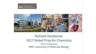 Chemistry Nobel Prize 2017 - Press conference with Richard Henderson