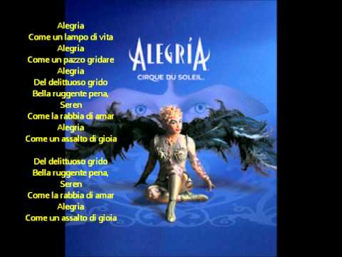 Alegria Cirque Du Soleil Alegria Lyrics Youtube