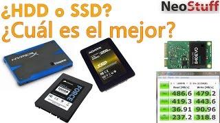 Diferencia entre Disco Duro y SSD Estado sólido.