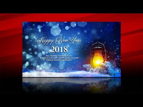 Photoshop Tutorial - How To Design Wallpaper Card Happy New Year 2018