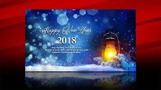 Photoshop Tutorial How to design wallpaper card Happy New Year 2018