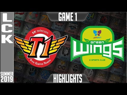 SKT vs JAG Highlights Game 1 | LCK Summer 2019 Week 6 Day 2 | SK Telecom T1 vs Jin Air Greenwings