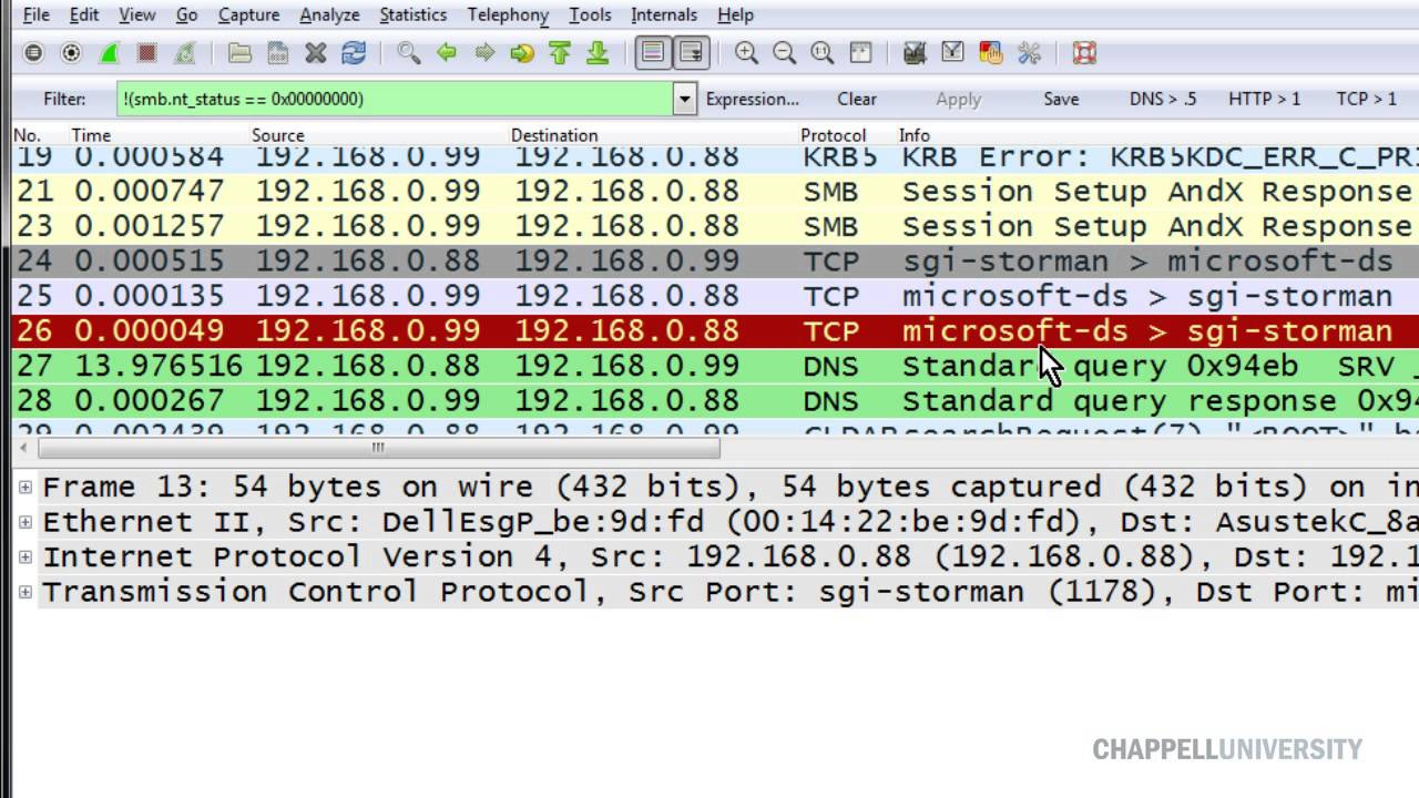 Detect SMB/SMB2 Errors with Wireshark