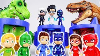 Romeo Brought A Scary Dinosaur~! PJ Masks Transforming Base Playset