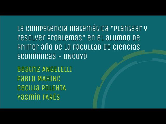 Competencia matemática plantear y resolver problemas en 1er. año de la FCE