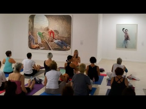 Yoga and Mindfulness experience at Museum, Málaga MuPAM
