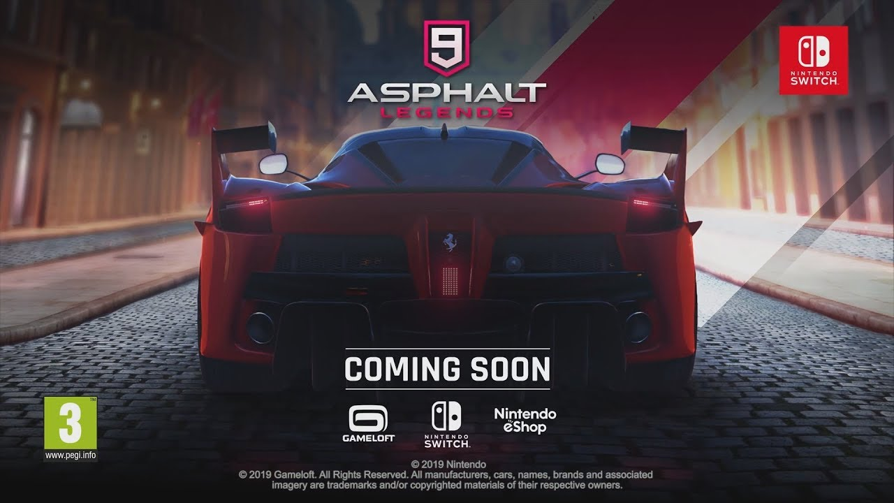 Στις 9/10/19 το Asphalt 9: Legends
