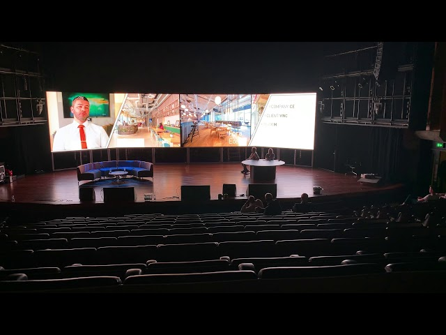 Super Large Curved LED wall using Aluvision LED tile 55 - LED Video Wall