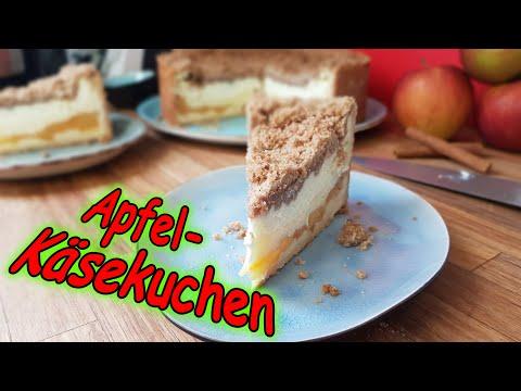 Apfel-Käsekuchen mit Zimtstreuseln   Martinas Küchenchaos   Rezept mit Videobeschreibung