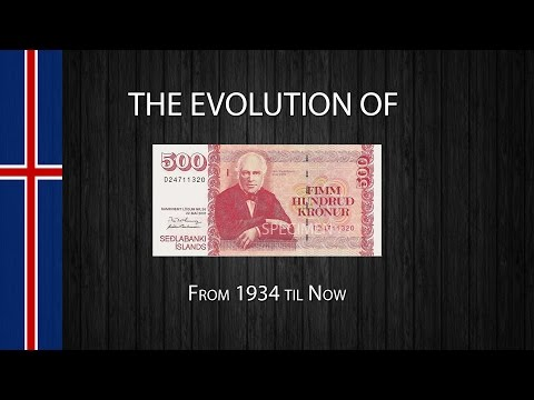 The Evolution Of The Icelandic 500 Króna Note