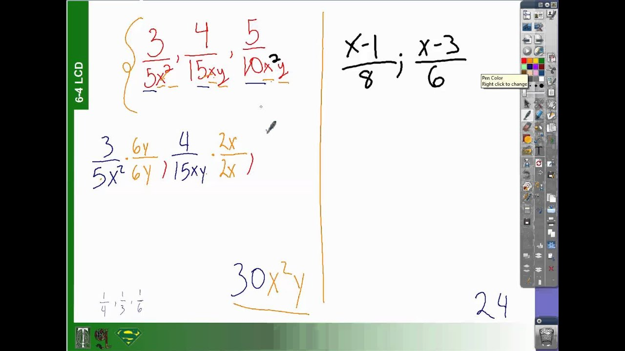 How to bring to a common denominator 27