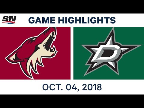 NHL Highlights | Coyotes vs. Stars - Oct. 4, 2018