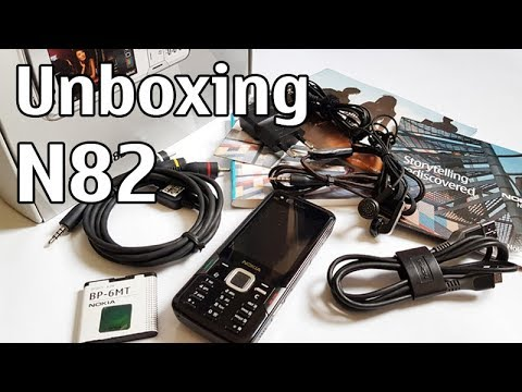 Nokia N82 Unboxing 4K with all original accessories Nseries RM-313 review