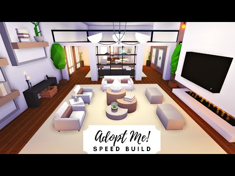 Party House - Modern Rosy Home Speed Build (Part 1) 🌹 Roblox Adopt Me!