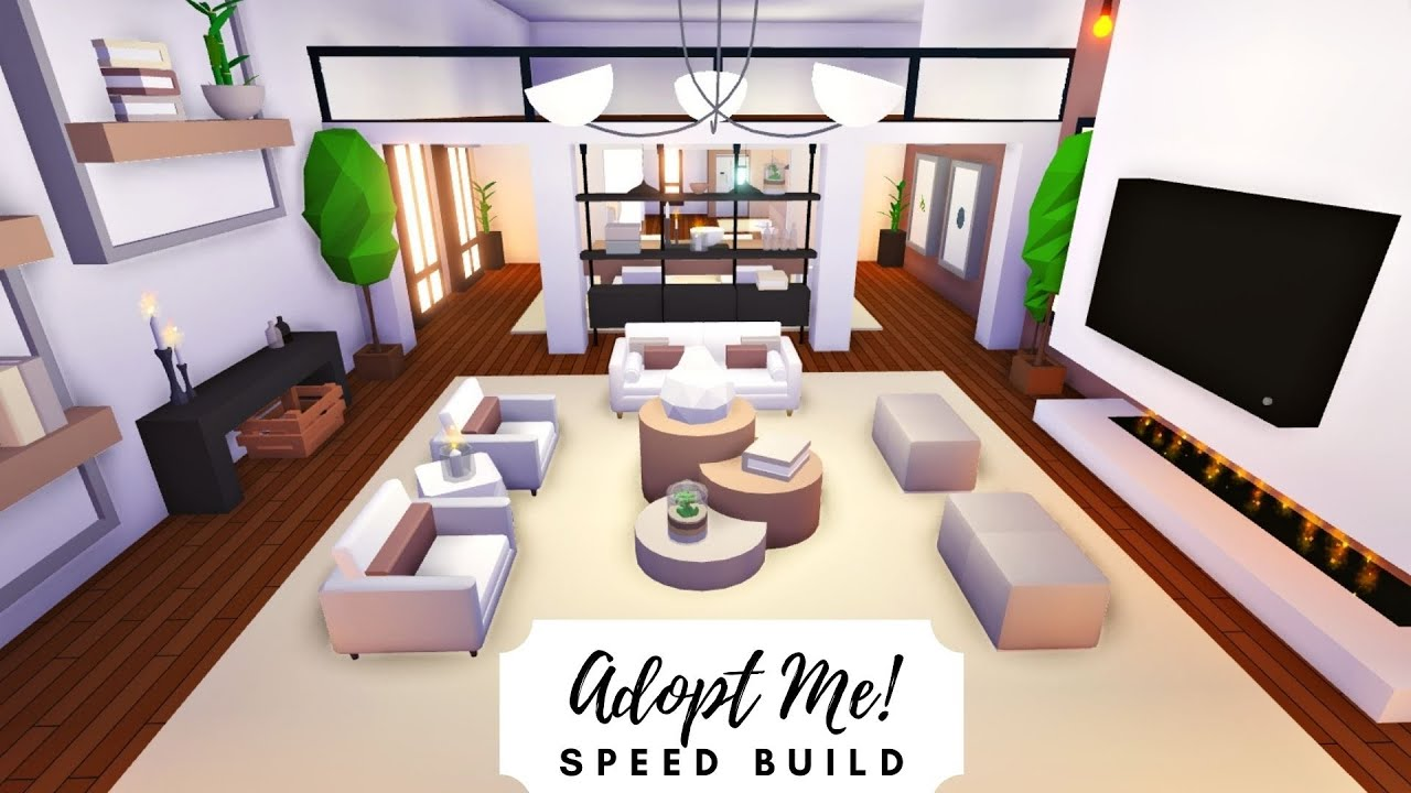 Party House Modern Rosy Home Speed Build Part 1 Roblox Adopt Me Youtube