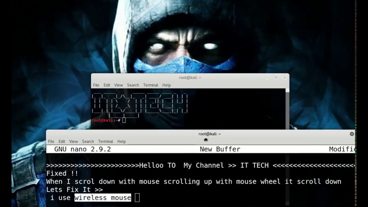 how to fix mouse scroll wheel up and down problem linux ( FIXED )