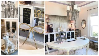 The Art of Mixing High & Low End Pieces   Small Home Office Tour