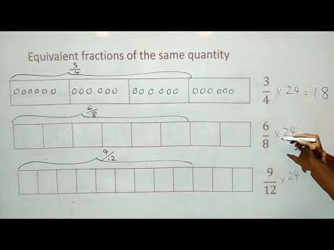 equivalent fractions of the same quantity