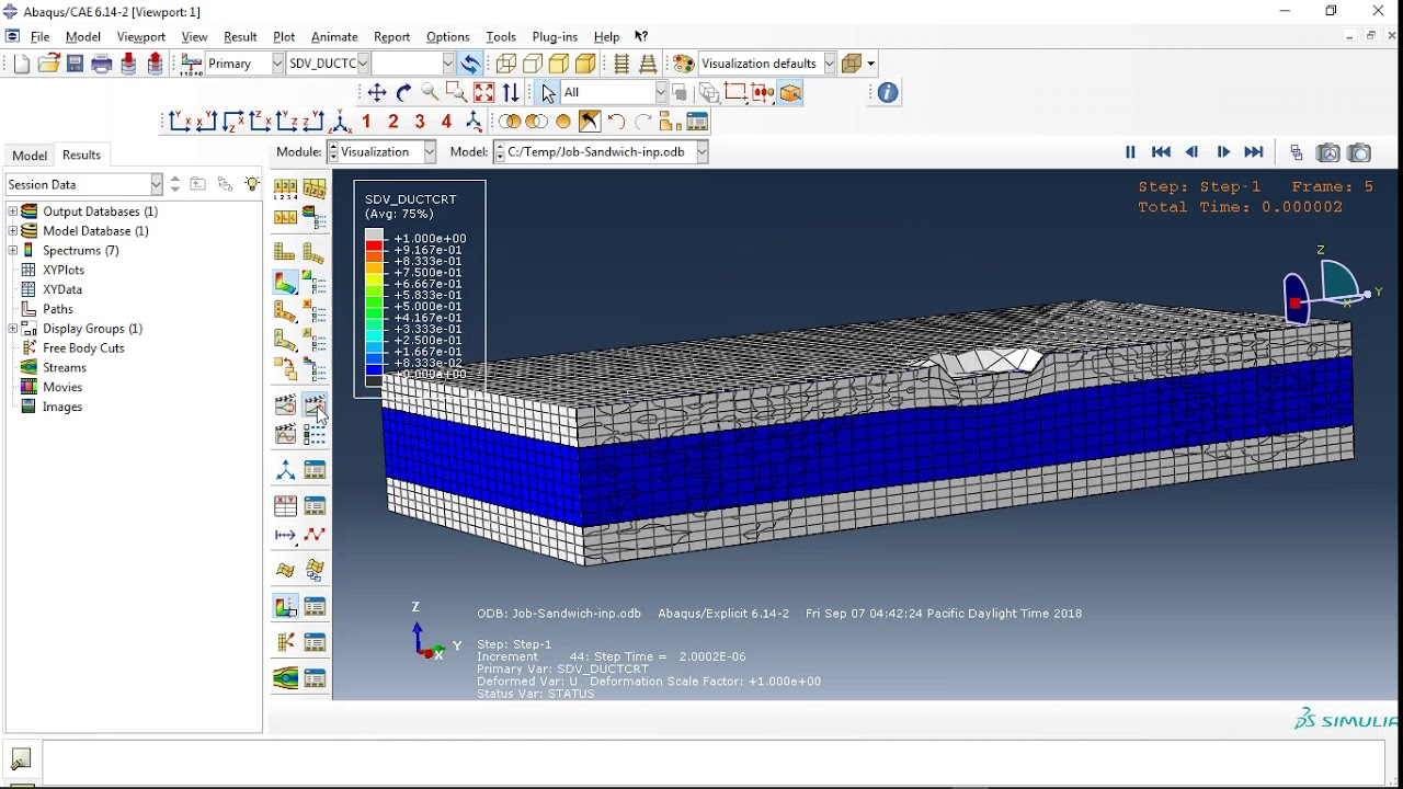 ddd3c1e460 Simulation of high speed impact into ceramic composite systems using JH2 material  model in Abaqus