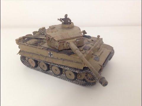 Tamiya 1:48 Tiger I Afrika Korps - Timelapse Build
