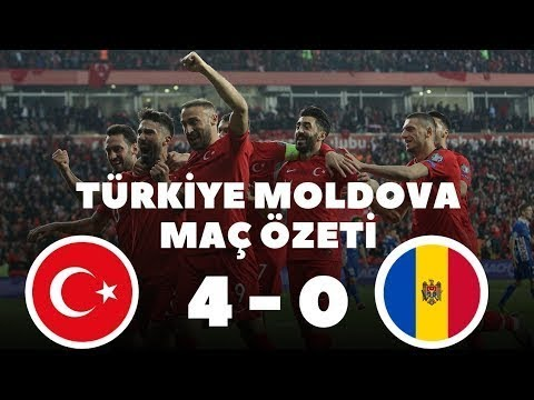 Türkiye 4-0 Moldova Maç Özeti HD - 25/03/2019