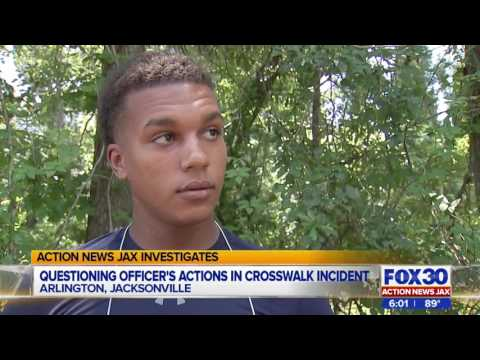 Man says Jacksonville cop threatened him with jail for crossing street illegally