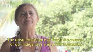 """""""A message from Antônia Melo, leader of the Xingu Alive Forever Movement""""   YouTube"""
