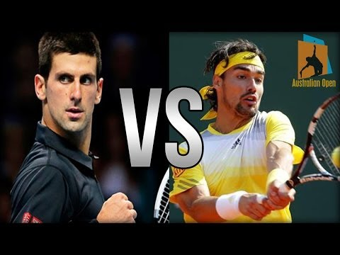 Novak Djokovic Vs Fabio Fognini Australian Open 2014 Highlights