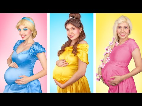 Если бы диснеевские принцессы были беременны