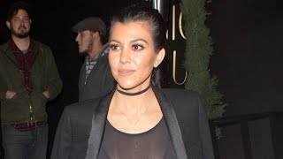 Kourtney Kardashian Steps Out in Totally Sheer Top With Sister Kendall Jenner